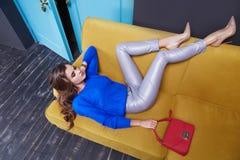 Estilo da forma da coleção do catálogo da composição da roupa das mulheres imagens de stock royalty free