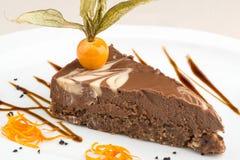 Estilo da fusão do bolo do vegetariano decorado fotografia de stock royalty free