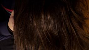 Estilo da mulher seu cabelo longo filme