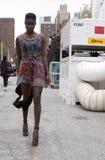 Estilo da rua de Jeneil Williams do modelo de forma Fotos de Stock