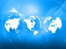 Estilo da tecnologia do mapa de mundo ilustração do vetor