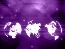 Estilo da tecnologia do mapa do mundo Foto de Stock Royalty Free