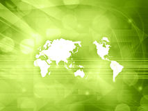 Estilo da tecnologia do mapa do mundo Foto de Stock