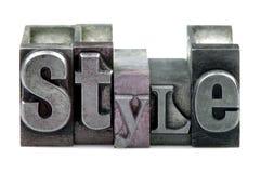 Estilo da tipografia fotografia de stock