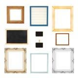 Estilo da variedade do grupo das molduras para retrato isolado no fundo branco Fotografia de Stock Royalty Free