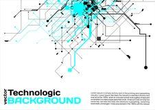 estilo de alta tecnología de la ciencia ficción del Cyberpunk del fondo del absract de la tecnología Fotos de archivo libres de regalías