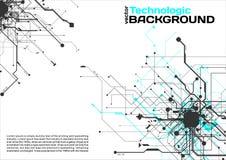 estilo de alta tecnología de la ciencia ficción del Cyberpunk del fondo del absract de la tecnología Foto de archivo libre de regalías