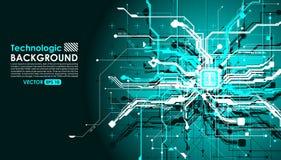 estilo de alta tecnología de la ciencia ficción del Cyberpunk del fondo del absract de la tecnología Fotografía de archivo libre de regalías