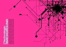 estilo de alta tecnología de la ciencia ficción del Cyberpunk del fondo del absract de la tecnología Imagen de archivo