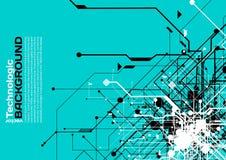 estilo de alta tecnología de la ciencia ficción del Cyberpunk del fondo del absract de la tecnología Imágenes de archivo libres de regalías