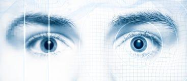 Estilo de alta tecnología digital de los ojos humanos Foto de archivo libre de regalías