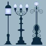 Estilo de Art Nouveau de las lámparas de calle de la colección libre illustration