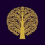 Estilo de Asia del símbolo del árbol Foto de archivo