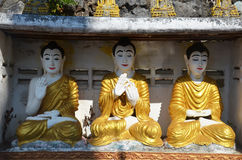 Estilo de Birmania de la estatua de la imagen de Buda en Tai Ta Ya Monastery Imagen de archivo