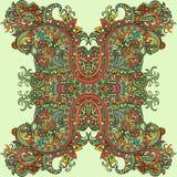 Estilo de Boho, ornamento étnico Modelo natural de la planta floral abstracta Foto de archivo libre de regalías