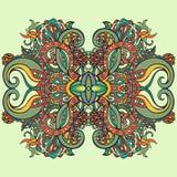 Estilo de Boho, ornamento étnico Modelo natural de la planta floral abstracta Fotografía de archivo libre de regalías