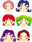 Estilo de cabelo das meninas Ilustração Royalty Free