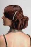 Estilo de cabelo lindo imagem de stock