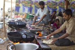 Estilo de cocinar indio Imagen de archivo