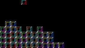Estilo de Digitaces del videojuego de Tetris en Alpha Channel ilustración del vector