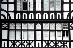 Estilo de Fasade Tudor en Chester, Reino Unido Foto de archivo libre de regalías