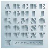 Estilo de fonte dos alfabetos do furo ilustração royalty free