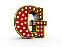 Estilo de G 3D Broadway de la letra libre illustration