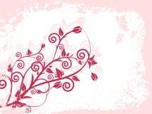 Estilo de Grunge - floral Imagens de Stock Royalty Free