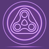 Estilo de incandescência de néon futurista de Logo Icon Sensor Vetor eps10 Fotografia de Stock Royalty Free