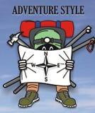 Estilo de la aventura Imagen de archivo libre de regalías