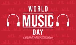 Estilo de la bandera del día de la música del mundo