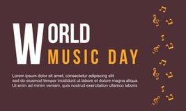 Estilo de la colección del día de la música del mundo del fondo