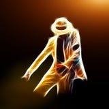 Estilo de la danza de Moonwalker Imagenes de archivo