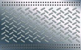 Estilo de la elipse del modelo de la textura del fondo Óvalo en la hoja pulida del cromo Topetones del metal del piso de acero Di libre illustration