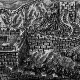 Estilo de la Gran Muralla Fotos de archivo libres de regalías