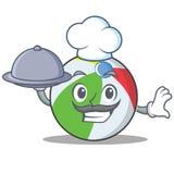 Estilo de la historieta del carácter de la bola del cocinero Fotos de archivo