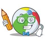 Estilo de la historieta del carácter de la bola del estudiante Fotografía de archivo libre de regalías