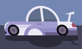 Estilo de la historieta del coche de carreras Fotos de archivo libres de regalías