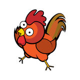 Estilo de la historieta del gallo libre illustration