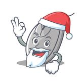 Estilo de la historieta de la mascota del ratón de Papá Noel stock de ilustración