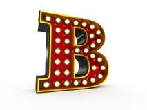 Estilo de la letra B 3D Broadway stock de ilustración