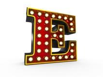 Estilo de la letra E 3D Broadway libre illustration