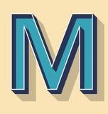 Estilo de la letra M Retro Vector Text, concepto de las fuentes Imagenes de archivo