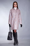 Estilo de la moda de la colección del catálogo del maquillaje de la ropa de las mujeres Imagen de archivo libre de regalías