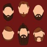 Estilo de la moda del pelo y de las barbas Fotos de archivo libres de regalías