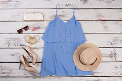 Estilo de la moda del verano de la mujer Imágenes de archivo libres de regalías