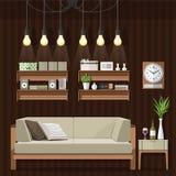 Estilo de la obra clásica de la sala de estar Imagen de archivo libre de regalías