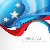 Estilo de la onda el 4 de julio Imagen de archivo libre de regalías