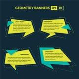 Estilo de la papiroflexia de las banderas del texto de la geometría Fotografía de archivo libre de regalías