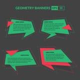 Estilo de la papiroflexia de las banderas del texto de la geometría Fotos de archivo